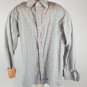 English Laundry flip cuff long sleeve button down
